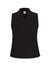 Anne Klein Black Solid Triple Pleat Neck Top
