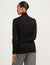 Anne Klein Jersey Long Sleeve Anne Black Turtleneck