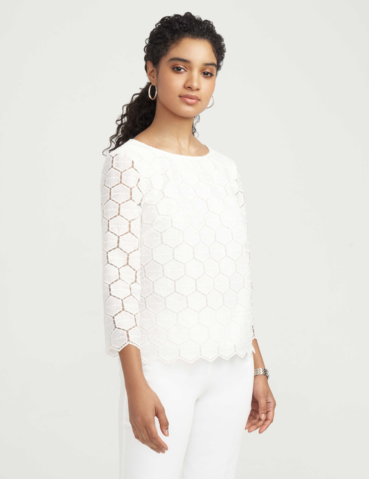 Geo Lace Blouse