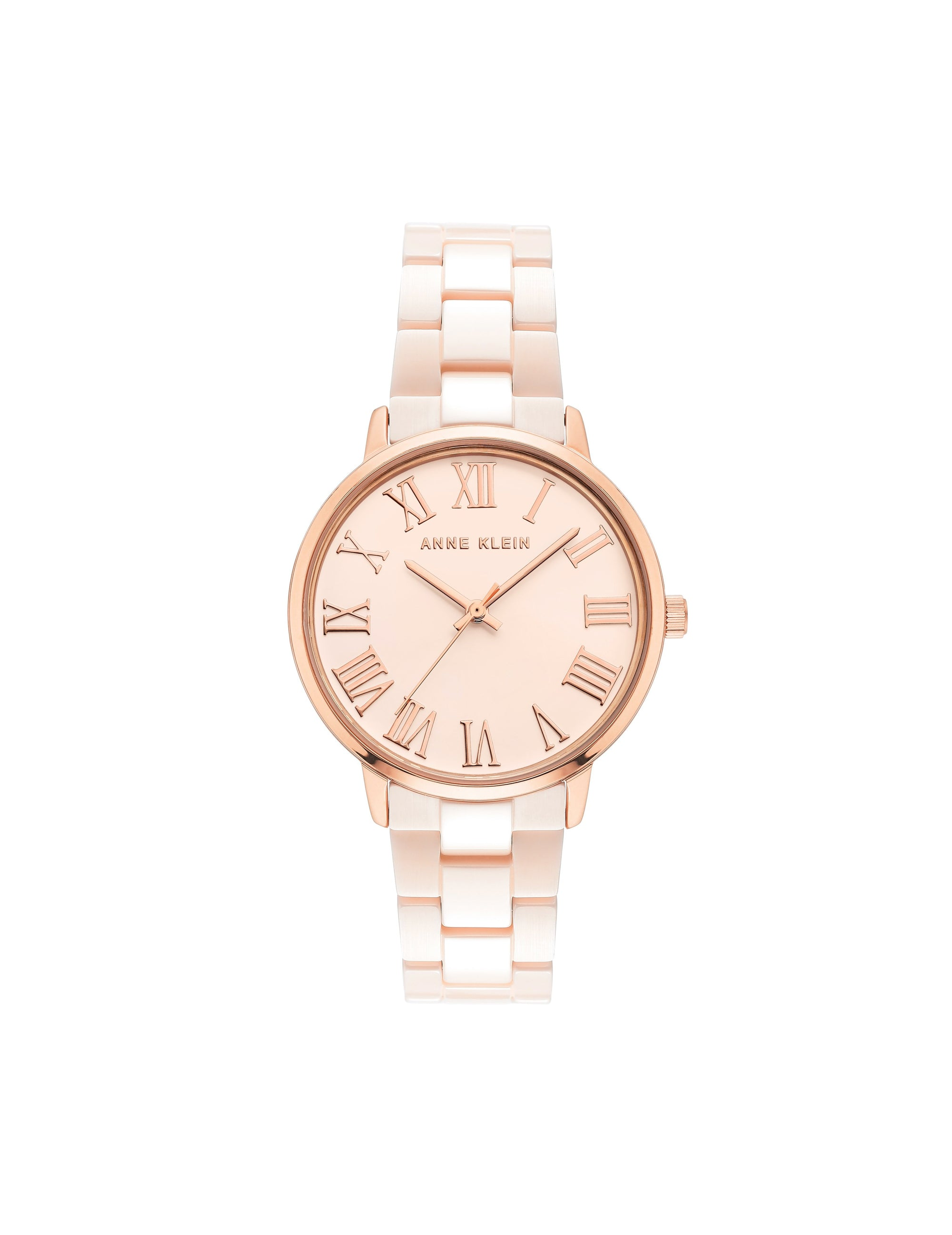 light pink rose gold ceramic bracelet watch