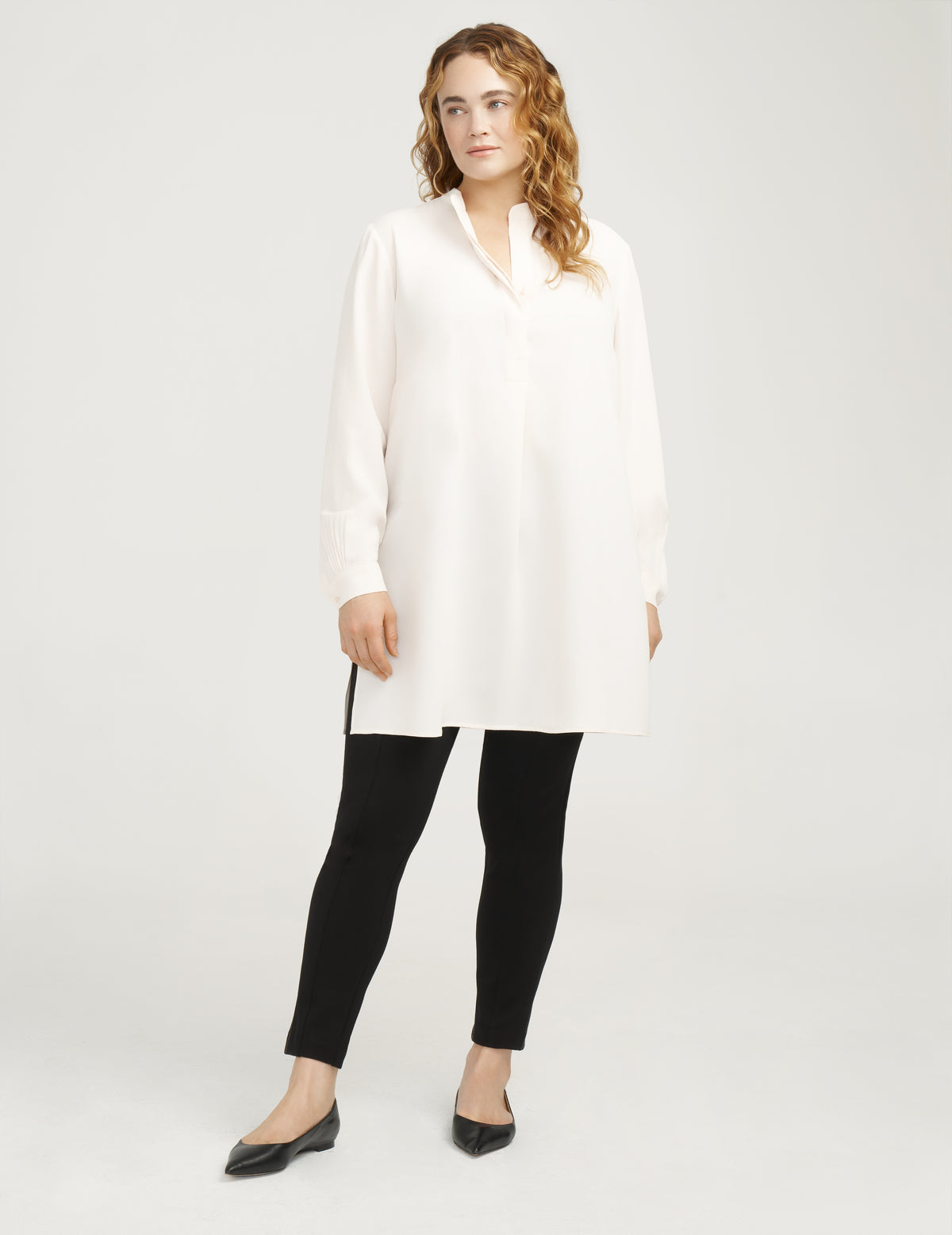 Plus Size Longer Length Nehru Tunic