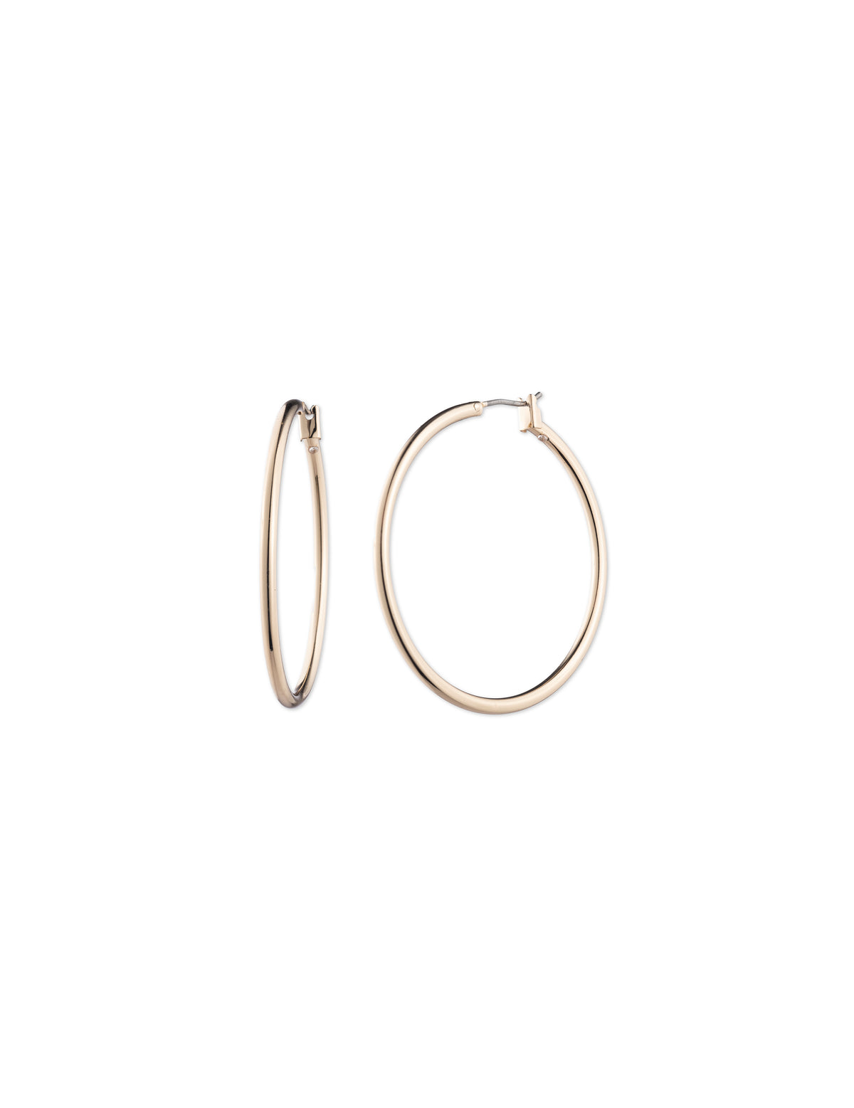 Large Gold-Tone Hoop Earrings