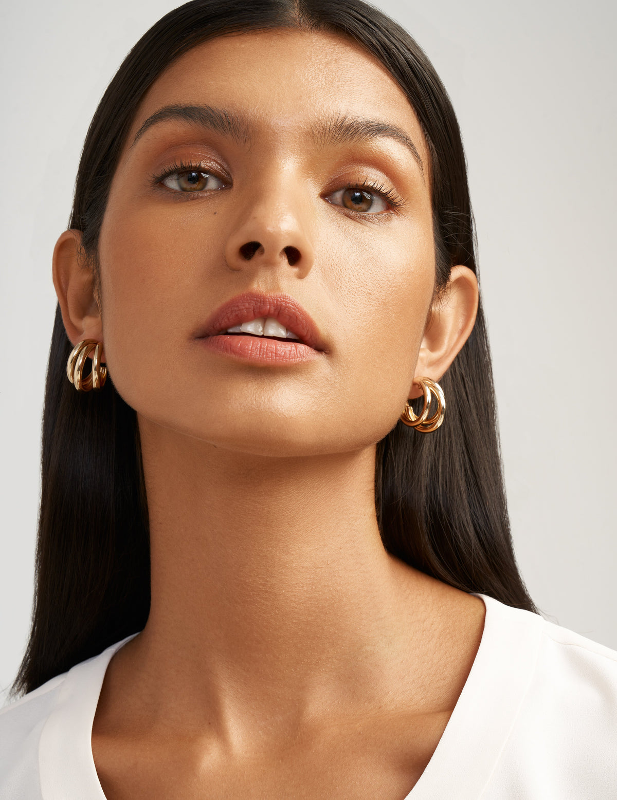 Gold-Tone Multi Hoop Earrings