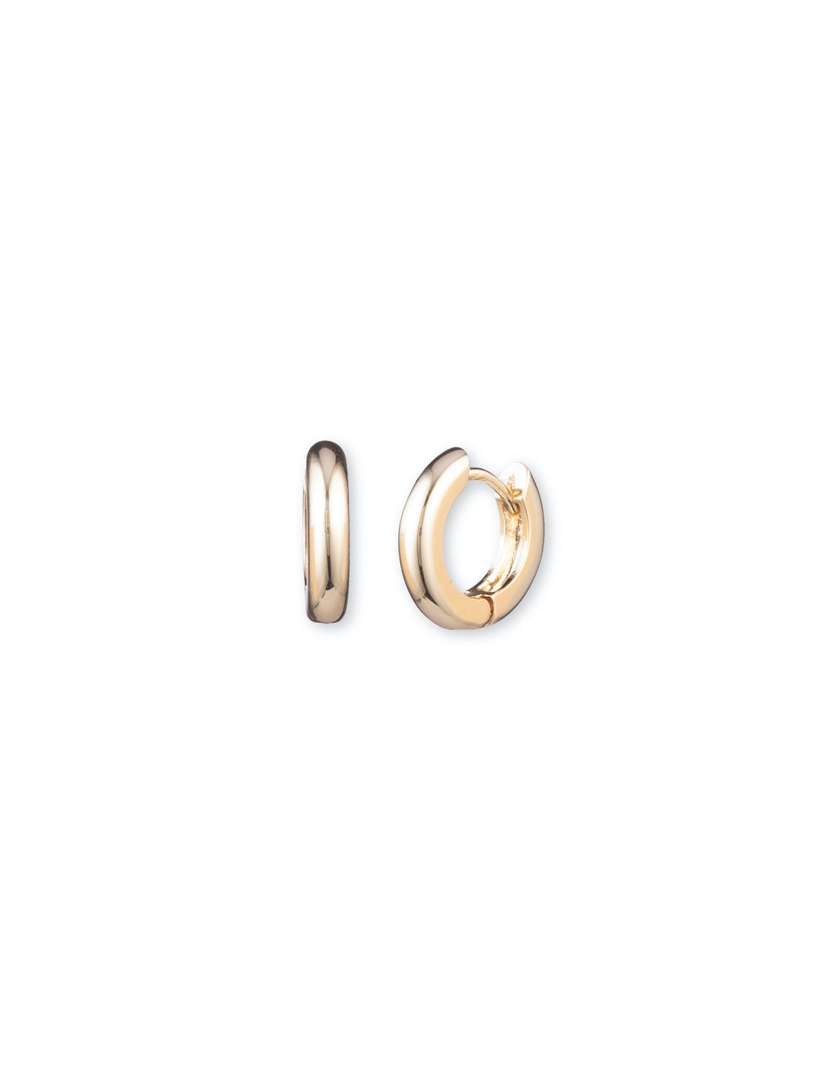 Gold-Tone Huggie Hoop Earrings