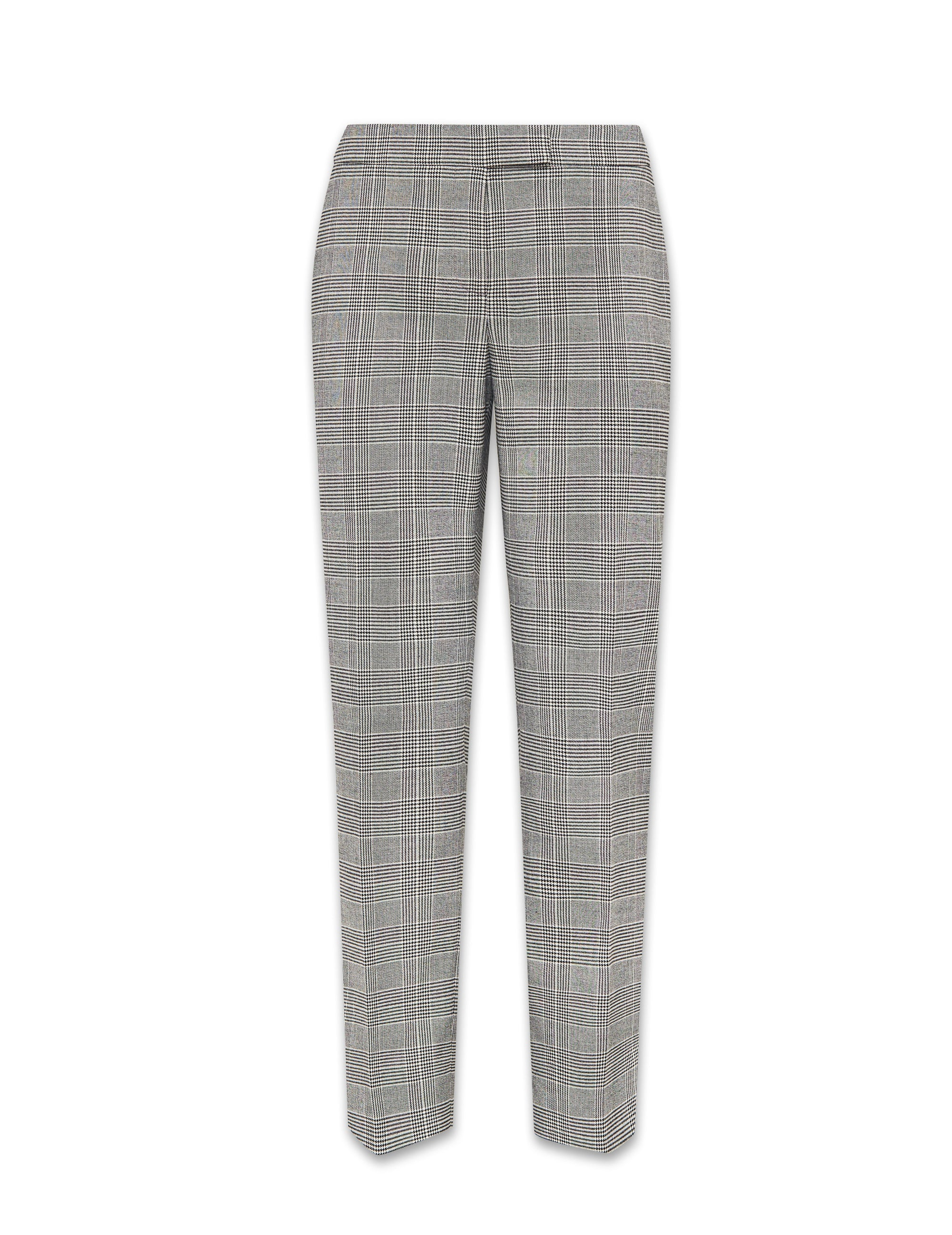 Anne Klein Plaid Bowie Pant in Anne Black and Anne White