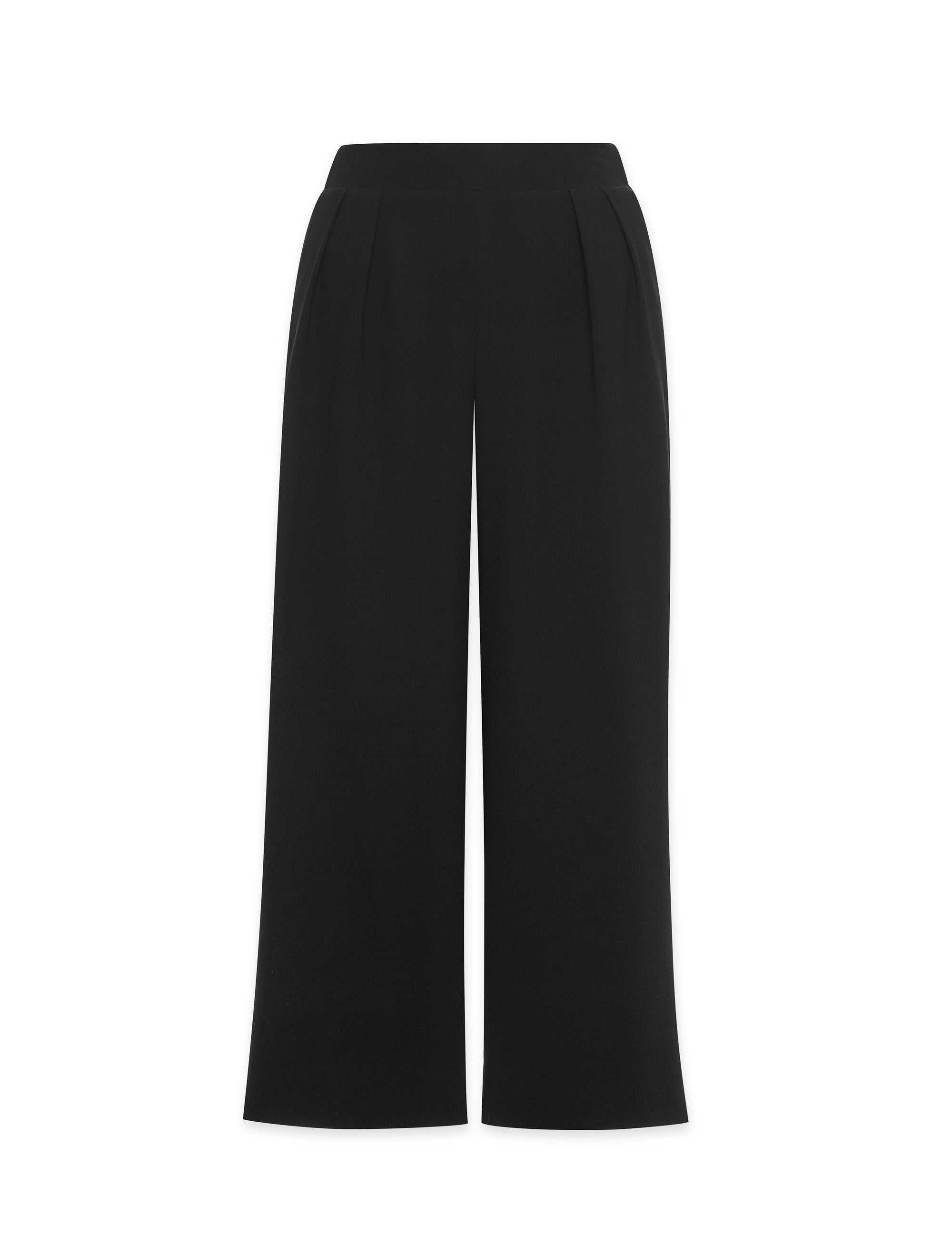 Anne Klein Wide Leg Pull-On Pant Anne Black