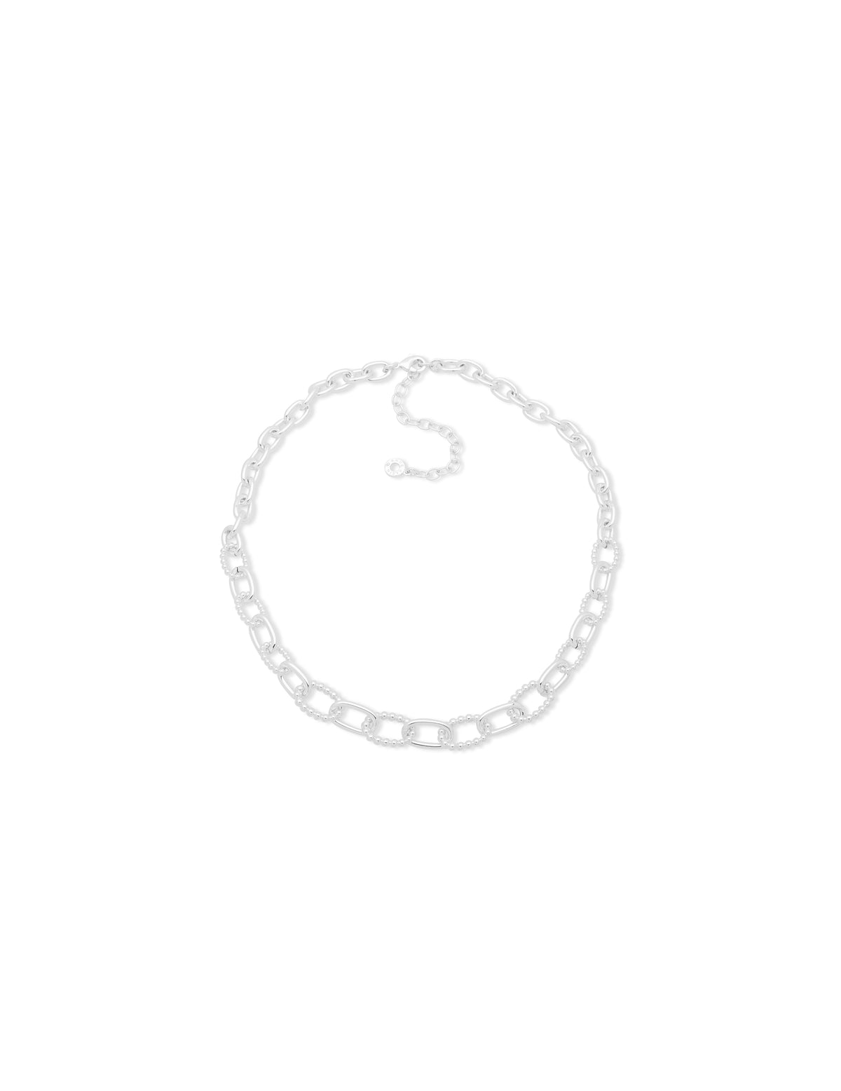Sliver-Tone Chain Link Necklace