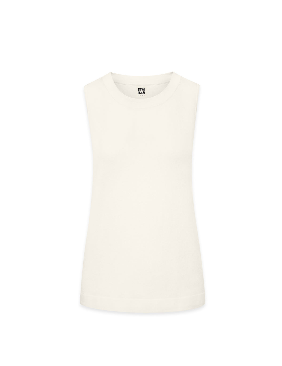 Anne Klein White Sleeveless Knit Shell