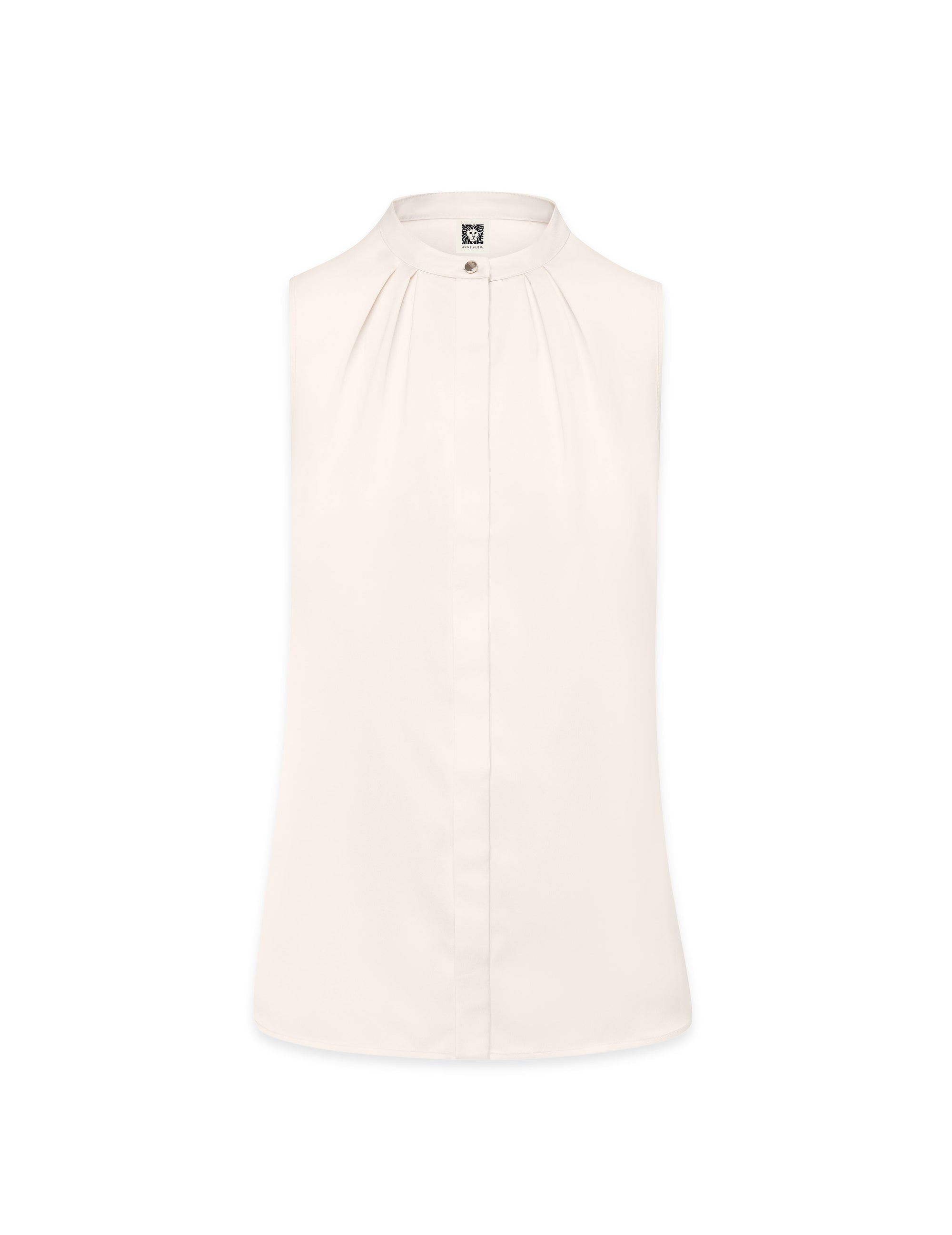 Anne Klein Sleeveless Mandarin Collar Blouse