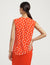 Anne Klein Charleston Print Sleeveless U-Neck Shell Poppy/Anne White