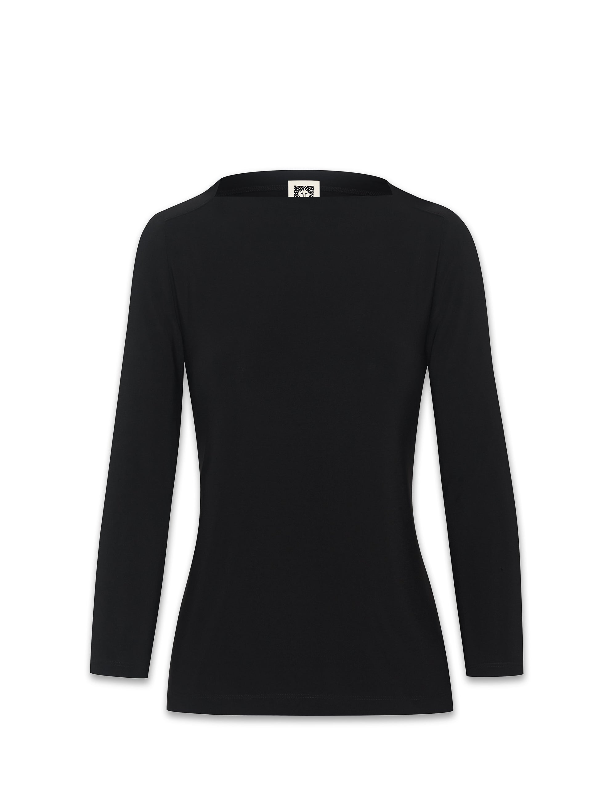 Anne Klein Black Envelope Sailor Top