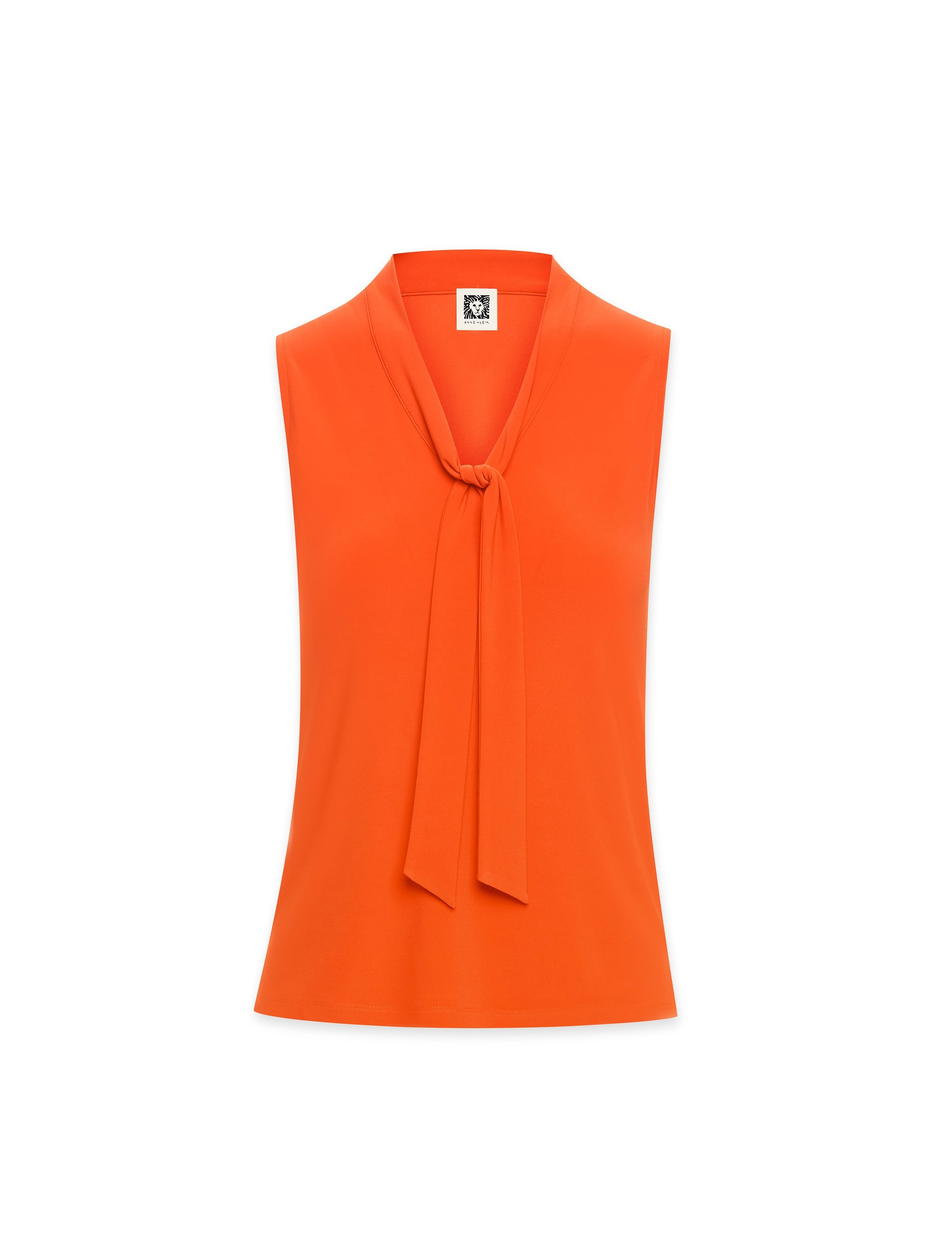 Anne Klein Sleeveless Tie Front Blouse Poppy
