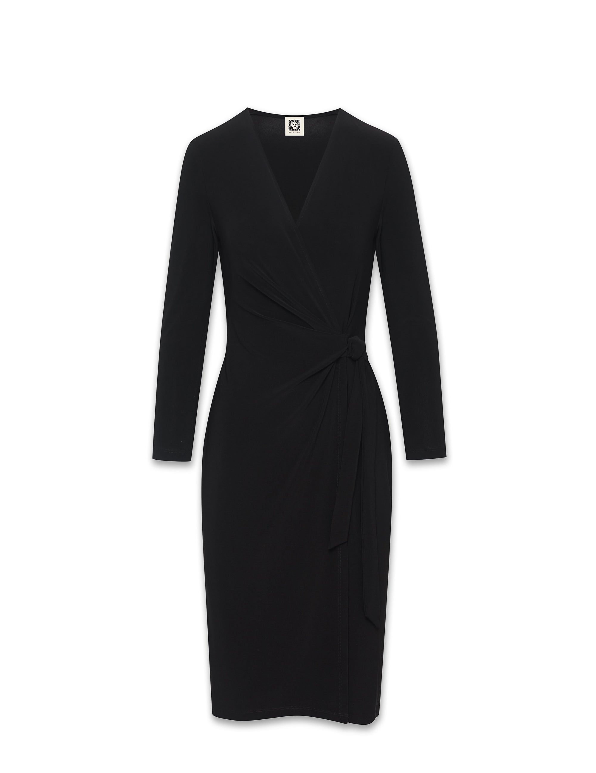 Anne Klein Black Faux Wrap Dress