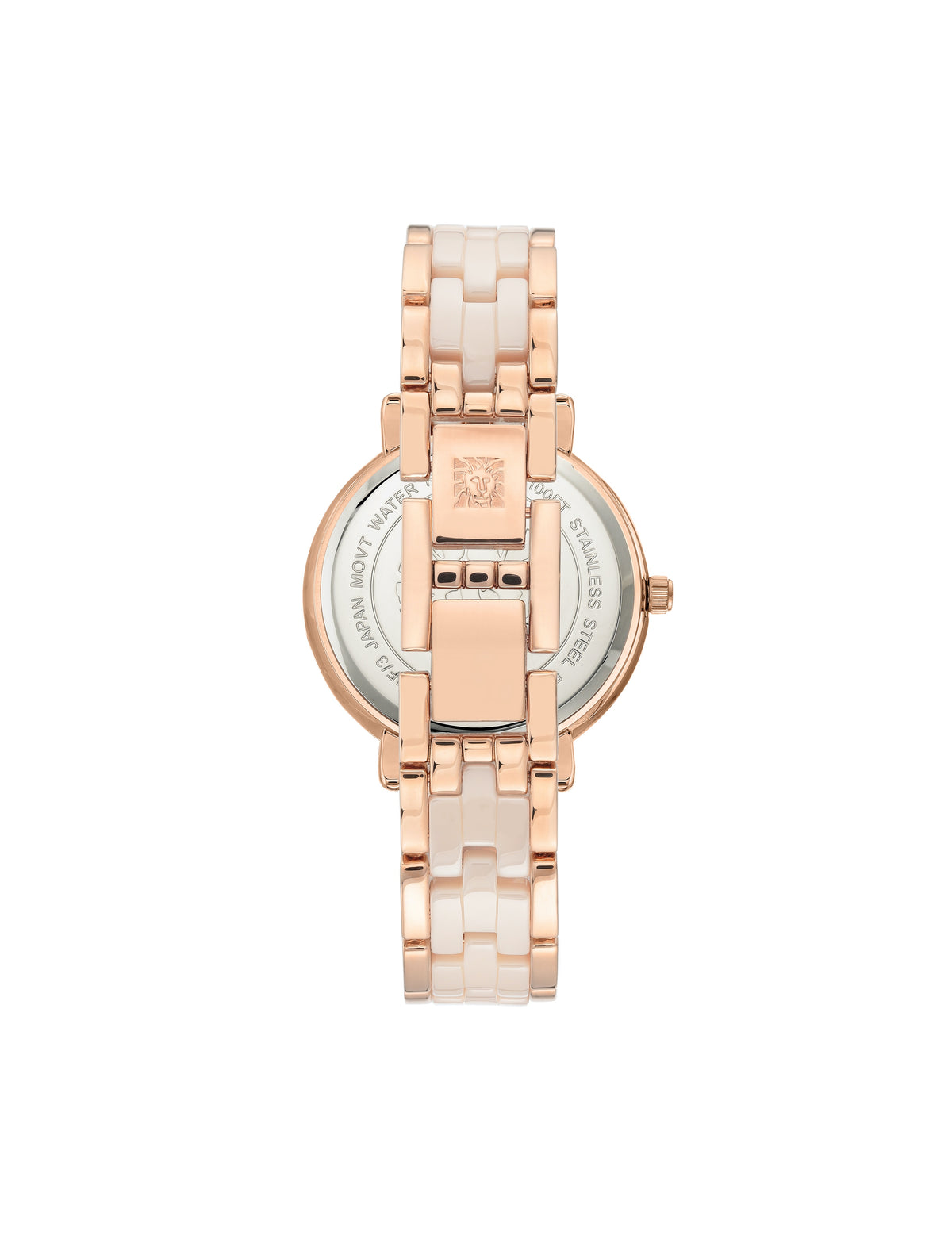 Ceramic Rose-Gold Tone Watch With Swarovski Crystals