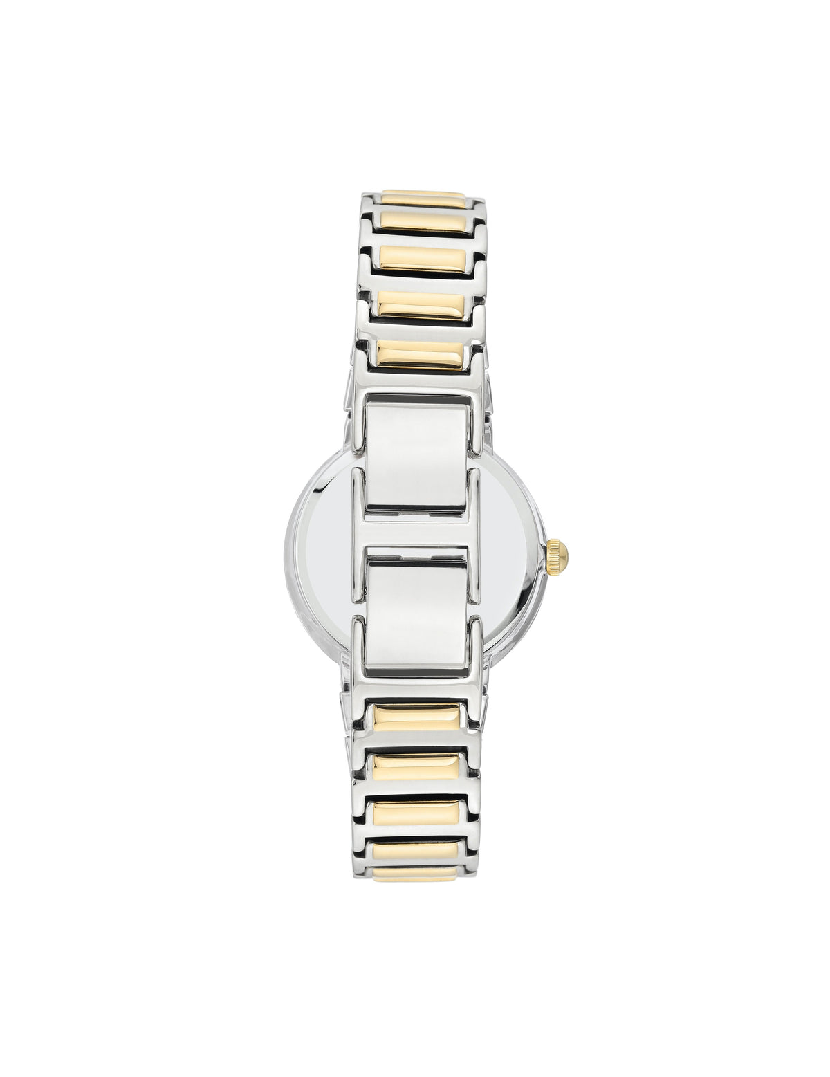 two tone easy to read dial bracelet watch