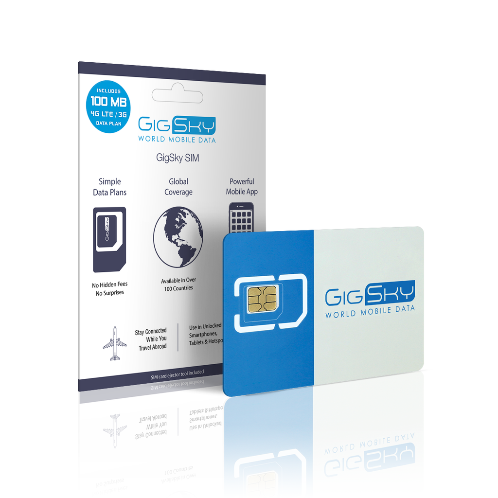 GigSky World Mobile Data 3-i-1 SIM