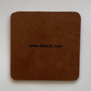 BLCK / CDR. 4 Leather Coasters - Square