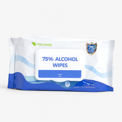 75% Alcohol Hand Sanitizing Wipes 50CT/Pack, 24 Packs; 1,200 total wipes