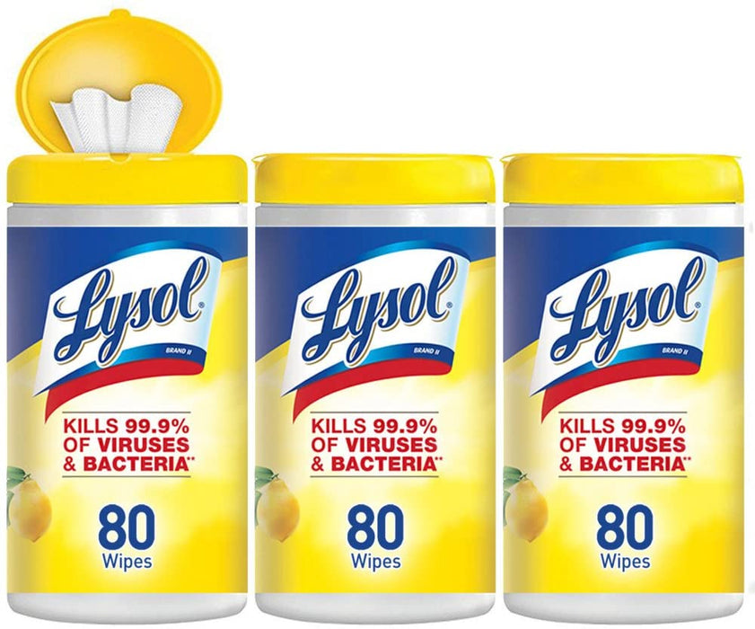Lysol Wipes 80 wipes/canister (100 canisters)