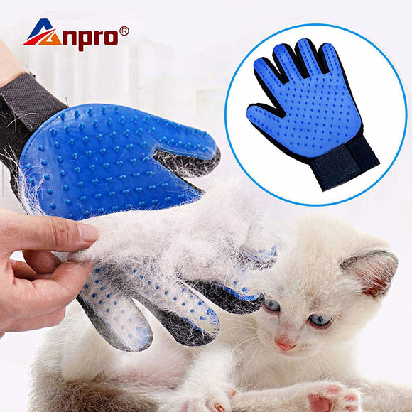 Pet Glove Cat Grooming Glove Cat Hair Deshedding Brush Gloves Dog Comb for Cats Bath Clean Massage Hair Remover Brush