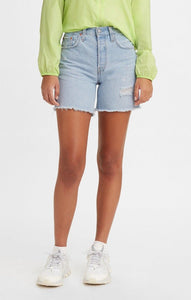 LEVIS WOMENS 501 MID THIGH SHORT