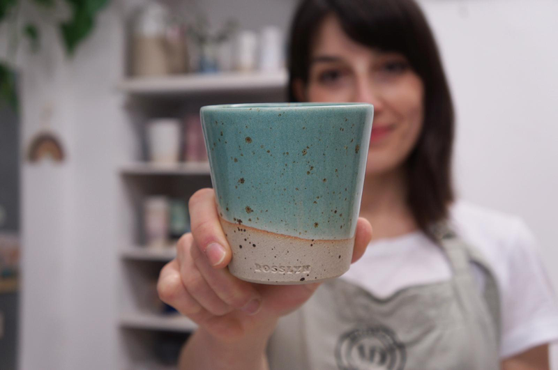 Ceramic Mug—Speckled Green