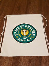 Load image into Gallery viewer, 2018 Retro Peace of Shitake Hemp Ale Canvas Drawstring Backpack