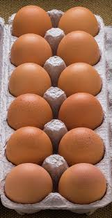 Farm Fresh Large Brown Eggs 1 dozen.