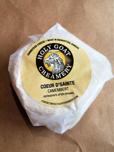 Holy Goat Coeur d'Sainte (Camembert) 4.5 oz., Manhattan, Kansas