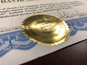 Anniversary and Certificate Seals