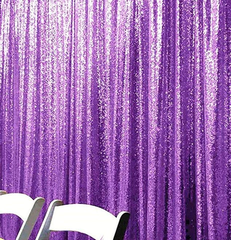 Purple Sequin Farbic Backdrop for Wedding Birthday Prom Decorations SE-4