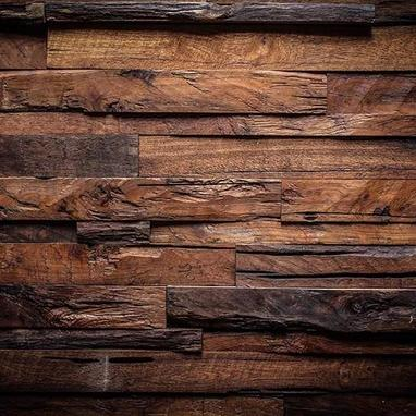 Retro Dark Brown Wood Backdrop for Children Photo