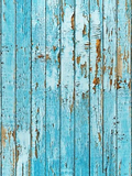 Blue Peeling Wood Wall Photography Backdrops