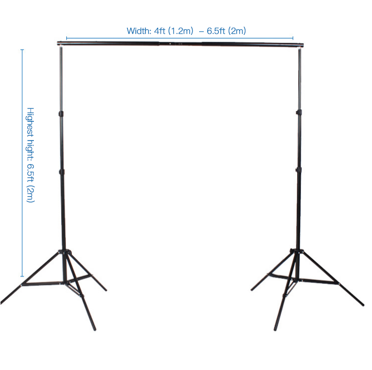 Backdrop Stand Kit Adjustable Background Support System Stand Kit PR2