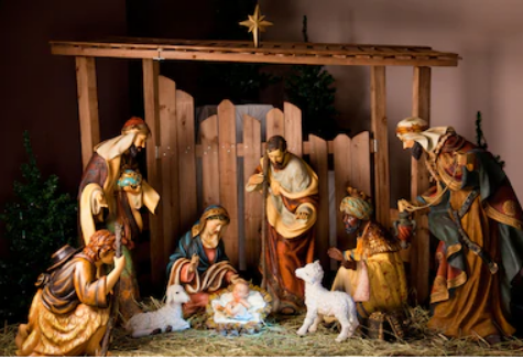 Christmas Nativity Scene Photography Backdrop GG-2