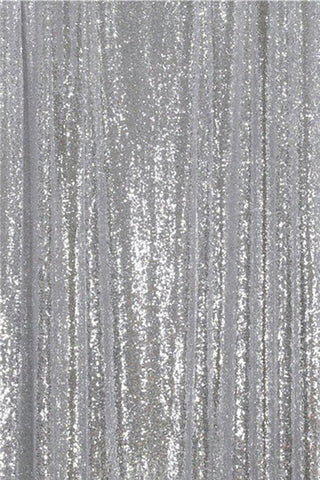 Slivery Sequin Farbic Backdrop for Party Wedding Decoration D30