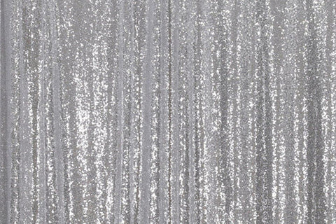 Silver Sequin Farbic Backdrop for Party Wedding Decoration D15