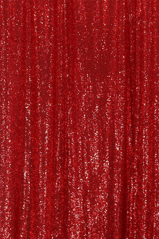 Red Sequin Farbic Backdrop for Party Wedding Decoration D17