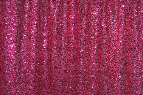 Deep Pink Sequin Farbic Backdrop for Party Wedding Decoration D13