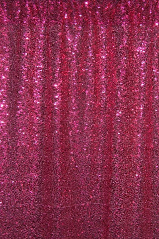 Deep Pink Sequin Farbic Backdrop for Party Wedding Decoration D28
