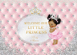 Girl  Baby Shower Pink  Party Decorations Backdrop BA14
