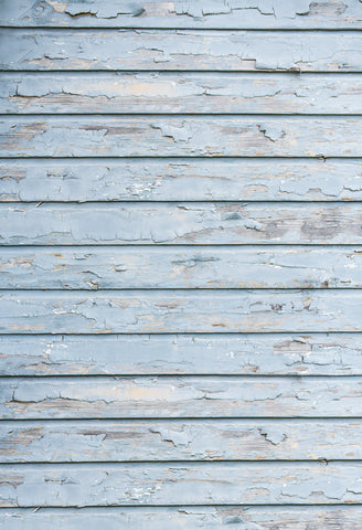 Blue Weathered Wood Texture Photography Backdrop