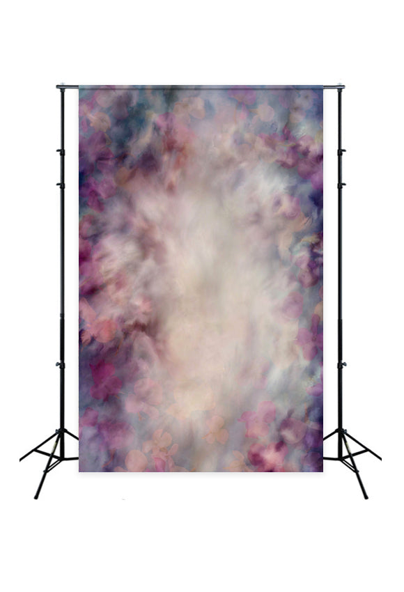 Abstract Floral Backdrop for Photo Studio Designed by Beth Hrachovina