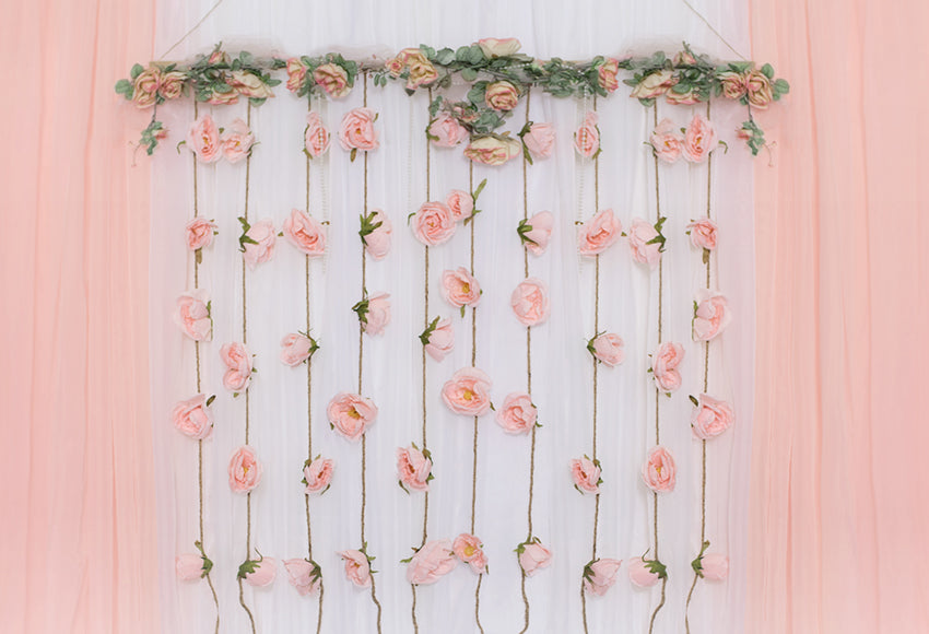 Flowers Decorations White Wood  Photography Backdrop