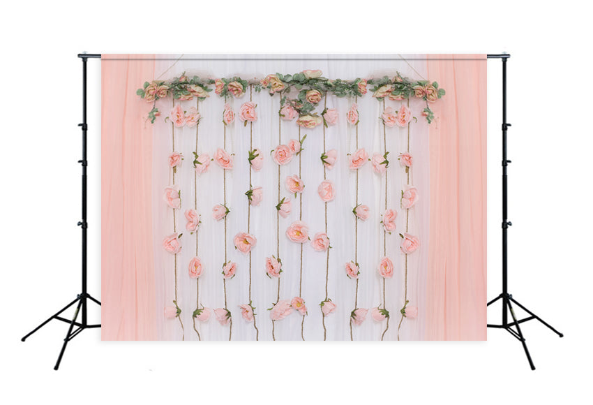 Flowers Decorations White Wood  Photography Backdrop Designed by Beth Hrachovina