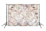 White Pink Spring Flowers Photography Backdrop Designed by Beth Hrachovina