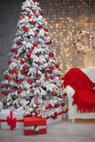 Christmas Tree Decoration Gift Sofa Photography Backdrop DBD-19328