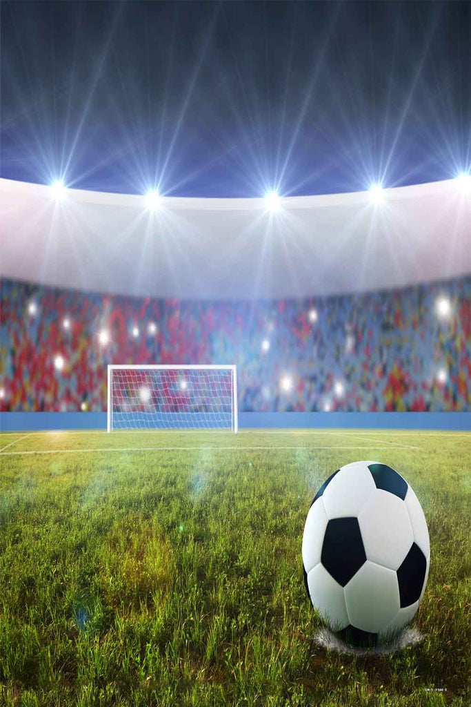 Sport Backdrops Soccer Footable Field Photography Backdrop CM-S-1166-E