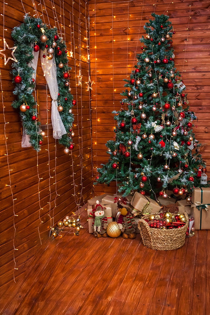 Christmas Tree Rom Decor Photography Backdrops DBD-P19197