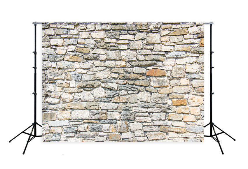 Stone Wall Close Up Backdrop for Photography D136